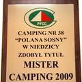 "Obejrzyj galerię: Tytuł ""Mister Camping 2009"" dla ""Polany Sosny"""