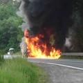 Obejrzyj galerię: Pożar samochodu na zakopiance