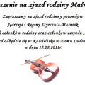 Obejrzyj galerię: Zaproszenie na zjazd rodziny Maśniaków