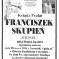 """Obejrzyj galerię: Zmarł Ksiądz Prałat Franciszek Skupień """"Stosel"""""""