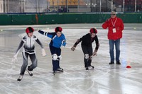 Łyżwiarze szybcy Olimpiad Specjalnych na nowotarskim lodowisku