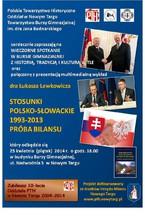 """""""Stosunki polsko-słowackie 1993-2013. Próba bilansu"""""""