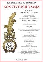 Obchody 223. Rocznicy Uchwalenia Konstytucji 3 Maja