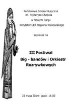 III Festiwal Big - bandów i Orkiestr Rozrywkowych