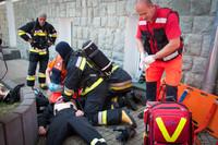 Ćwiczenia straży pożarnej w Kościelisku