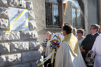 Tablica w hołdzie świętemu Papieżowi
