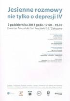 Jesienne rozmowy nie tylko o depresji IV