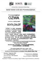 """""""OZWA"""" - spotkanie z Beatą Zalot"""