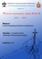 Wieczór wspomnień o Janie Pawle II
