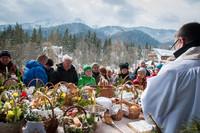 Poświęcenie pokarmów w Sanktuatium na Krzeptówkach