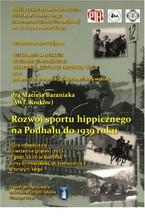 Rozwój sportu hippicznego na Podhalu do 1939 roku