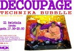 Decoupage - technika bubblle