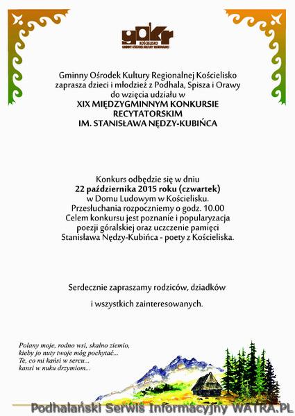 Konkurs Recytatorski Im Stanisława Nędzy Kubińca 22