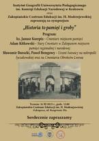 """Sympozjum """"Historia to pamięć i groby"""" w Zakopiańskim Centrum Edukacji im. H. Modrzejewskiej"""