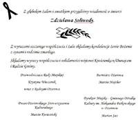 Kondolencje dla rodziny Zdzisława Soliwody