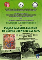 Wieczorne Spotkania w Bursie Gimnazjalnej: Polska szlachta sołtysia na Górnej Orawie od XVI-XX w.