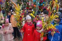 Niedziela Palmowa w parafii, w Poroninie