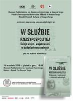 """""""W służbie Rzeczypospolitej. Dzieje wojen i wojskowości w badaniach regionalnych"""""""