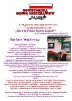 Barbara Wachowicz - WIECZÓR OPOWIEŚCI O WIELKICH RODAKACH