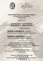 Koncert Jakuba i Dawida Lubowiczów w Zakopanem.