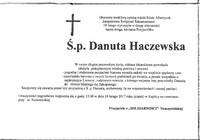 Zmarła ś.p.Dantua HAczewska - kondolencje