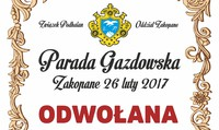 Parada Gazdowska w Zakopanem ODWOŁANA
