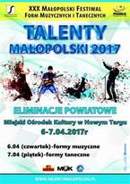 XXX Małopolski Festiwal Form Muzycznych i Tanecznych Talenty Małopolski 2017
