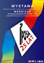 Wystawa prac uczniów POSA z okazji XXV- lecia