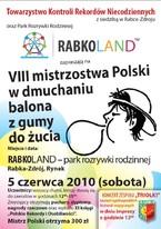 VIII Mistrzostwa Polski w Dmuchaniu Balona z Gumy do Żucia Hubba Bubba