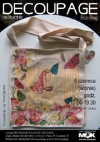Decoupage na tkaninie – Eco Bag