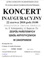 Letnie Koncerty w Zakopanem 2010 - Koncert Inauguracyjny