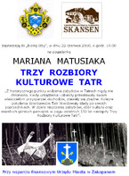 Trzy rozbiory kulturowe Tatr