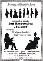 """Spotkanie z poezją: Jan Kasprowicz """"Salome"""""""