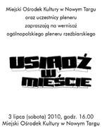 """Wernisaż ogólnopolskiego pleneru rzeźbiarskiego """"USIĄDŹ W MIEŚCIE"""""""