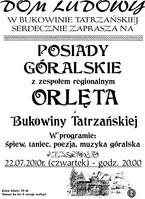 Posiady góralskie z zespołem Orlęta