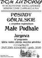 Posiady góralskie z zespołem Małe Podhale