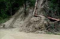 Osuwisko w Sromowcach Niżnych tymczasowo zabezpieczone