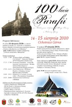 100-lecie Parafii Wniebowzięcia Najświętszej Marii Panny