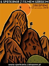 Plakat 6 Spotkań z Fimem Górskim Zakopane 2010