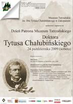 Dzień Patrona Muzeum Tatrzańskiego Doktora Tytusa Chałubińskiego