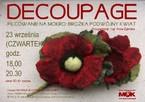 Decoupage – brożka podwójny kwiat