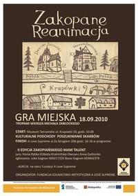 W sobotę rusza Gra Miejska-zapraszamy!