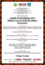 Jesień Tatrzańska 2010 - Święto Ulicy Kościeliskiej