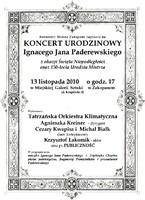 Koncert Urodzinowy Ignacego Jana Paderewskiego