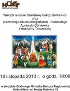 Wieczór autorski Stanisławy Galicy Górkiewicz i Agnieszki Górkiewicz