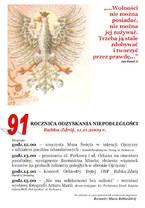 91 Rocznica Odzyskania Niepodległości