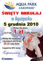 Święty Mikołaj w Aqua Parku