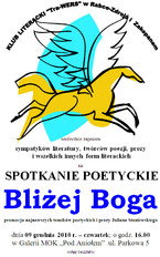 """Spotkanie Poetyckie """"Bliżej Boga"""""""