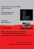 """Promocja książki Dawida Golika """"Obszar opanowany przez leśnych"""""""