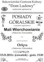 """Posiady góralskie z zespołami """"Mali Wierchowianie"""" i """"Orlęta"""""""